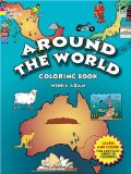 around the world coloring book geography