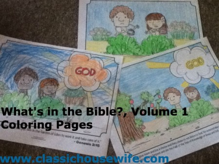 Wha's in the Bible Volume 1 Coloring Pages