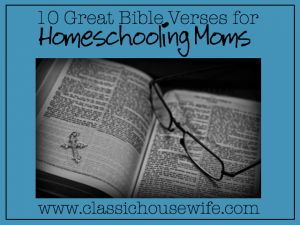 bible verse for homeschooling