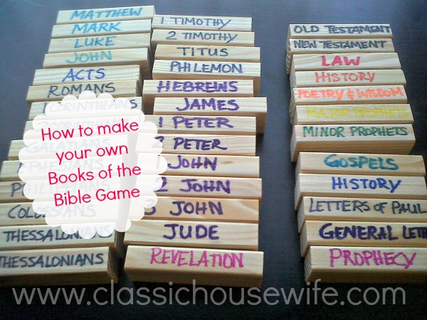 How To Make A Bookend : Books of the bible quot jenga game classic housewife