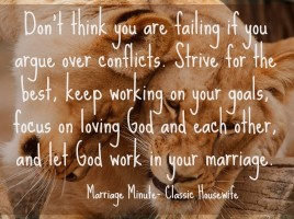 Marriage Minute Conflict