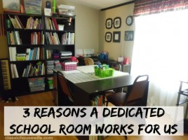 dedicated homeschool room