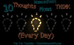 10 Thoughts Homeschool Moms