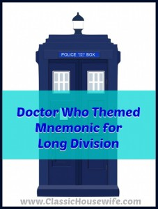 Doctor Who Mnemonic for Long Division