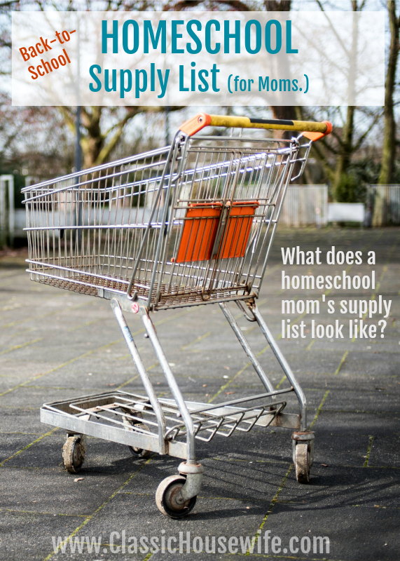 Homeschool Supply List for Moms