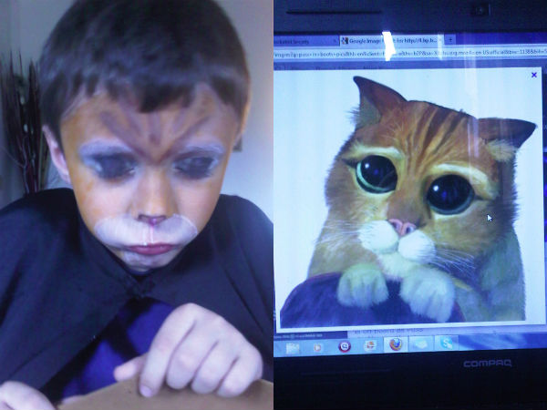 He Wanted His Sister To Give Him a Face Painting…
