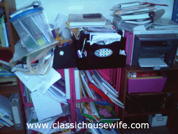 How NOT to organize your homeschool.