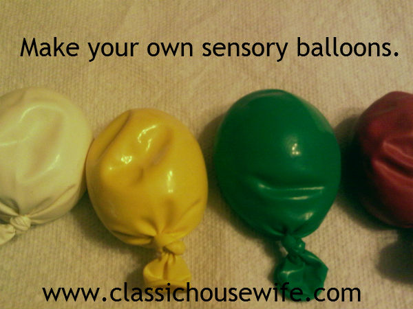 How to Make Your Own Sensory Balloons (or Stress Balls)