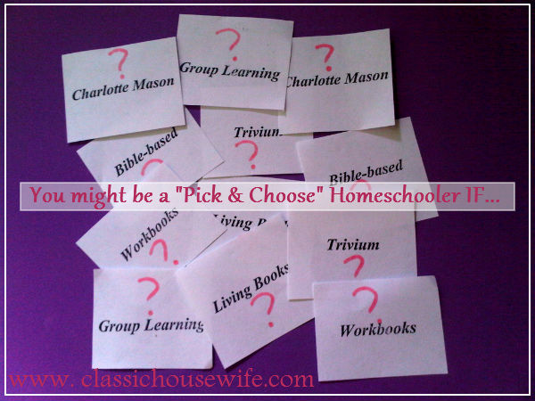 Top Ten Signs You Might Be An Eclectic Homeschooler