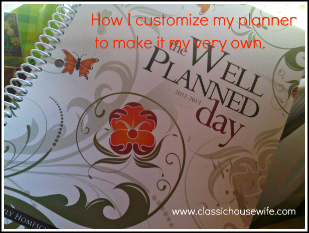 How I Use and Customize My Well Planned Day Lesson Planner