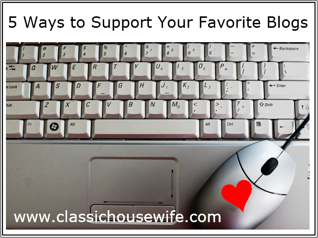 5 Ways to Support Your Favorite Blogs