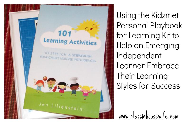 Kidzmet Learning Styles Playbook ~Review