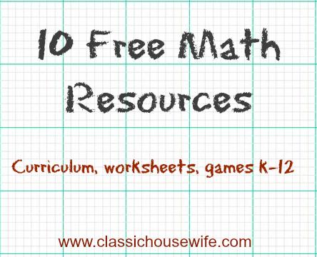Ten Free Math Resources