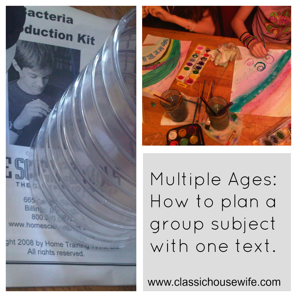 Multiple Ages: How to plan a group subject with one text