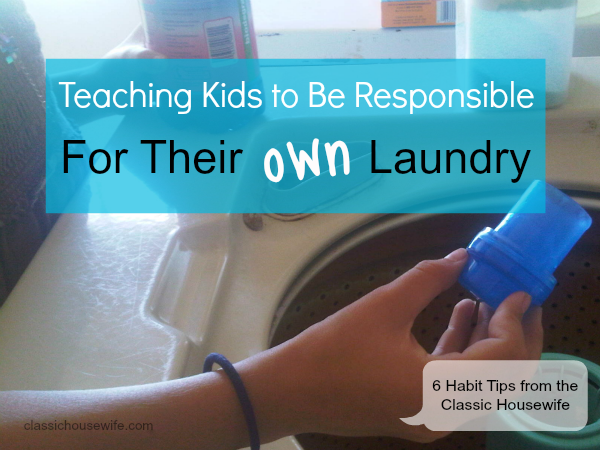 Teaching Kids To Do Their Own Laundry?