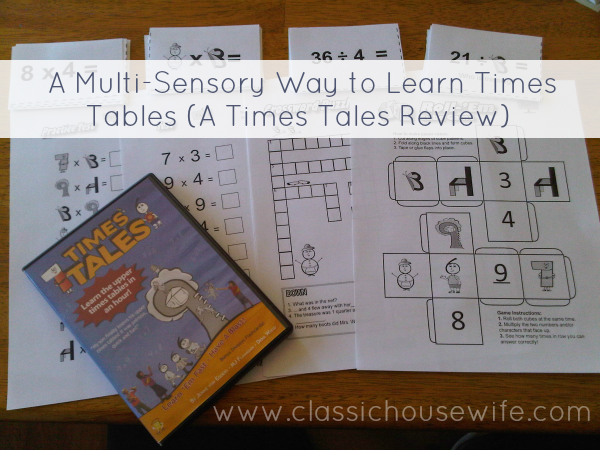 Times Tales – A Multi-Sensory Way to Learn Times Tables (A Review)