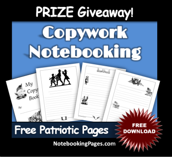 Free Patriotic Copywork Notebooking Pages (from NotebookingPages.com)