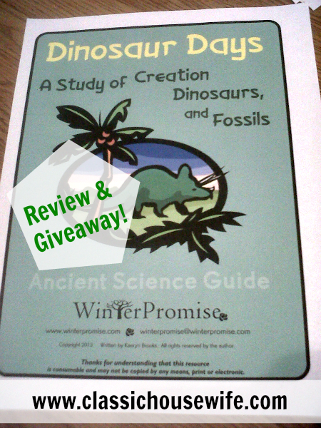Studying Ancient Science – Dinosaur Days Unit from WinterPromise (Review)