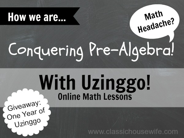 Conquering Pre-Algebra With Uzinggo Online Math (Review)
