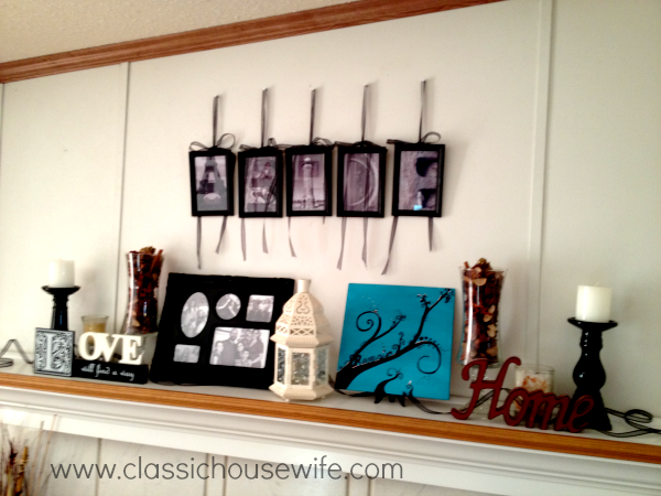 Simple New Year Mantel Decor