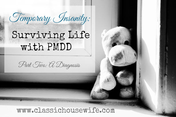 Temporary Insanity: Surviving Life with PMDD, Part 2