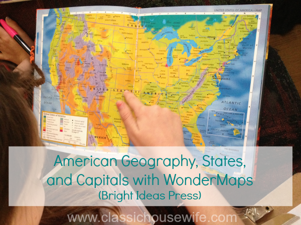 U.S. States and Capitals, WonderMaps, and Permanent Markers.
