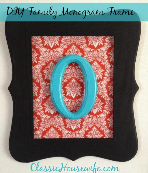 DIY Family Monogram Picture Frame Project