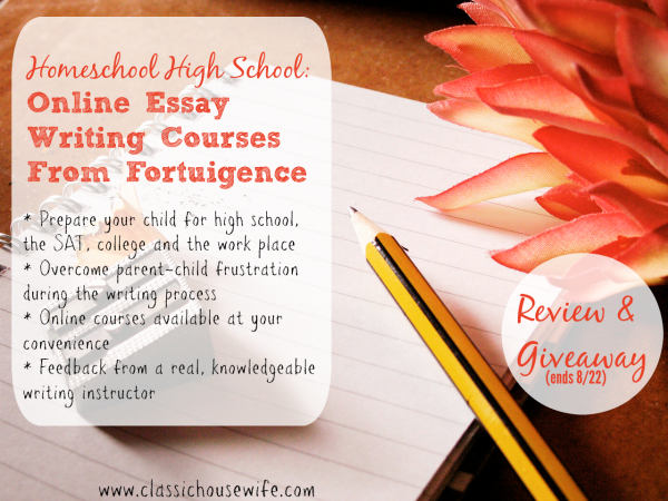 Homeschool Essay Writing Courses With Fortuigence (Review)