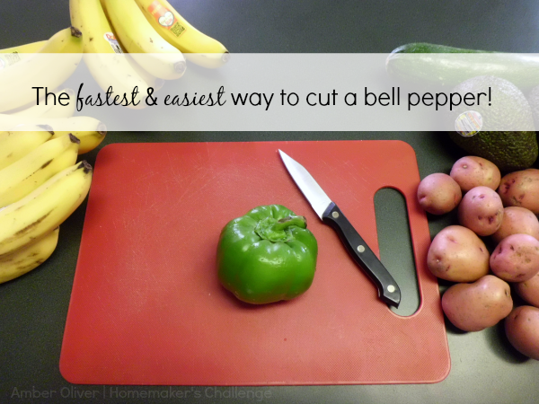 Homemaker's Challenge: A Tip for Cutting Bell Peppers