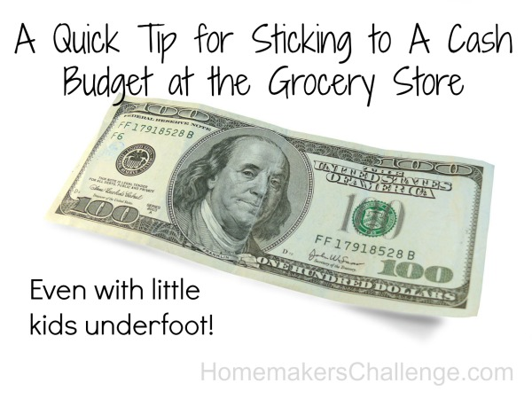 Homemaker's Challenge: Staying Inside A Cash Budget At the Grocery Store