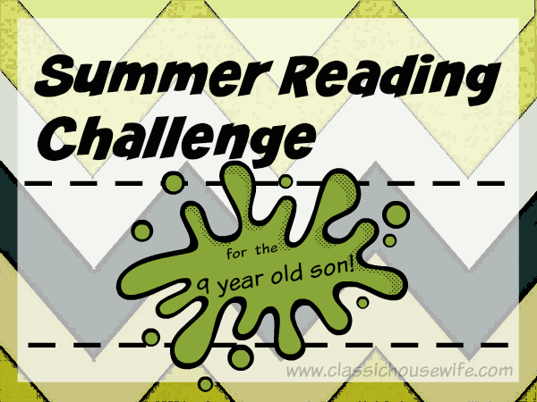 Summer Reading Challenge (9 Year Old Son)