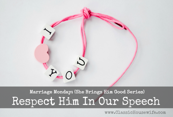 Marriage Minute: The Way We Speak (Respect #2)