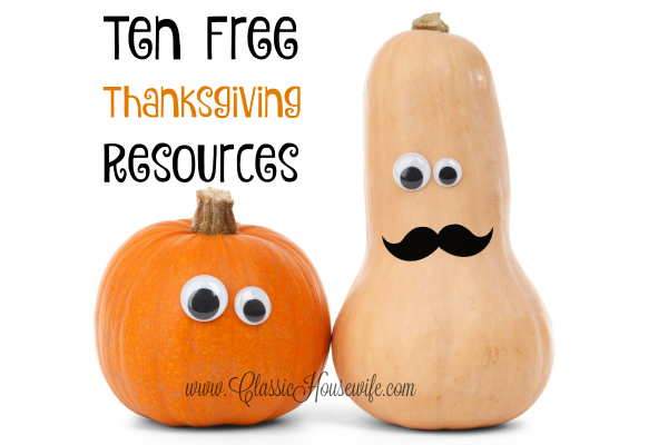 10 Free Thanksgiving Resources