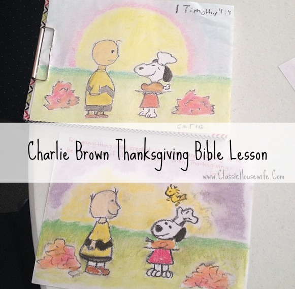 Charlie Brown Thanksgiving Bible Lesson