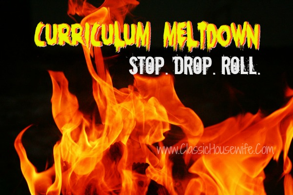 Curriculum Meltdown: Stop, Drop, and Roll