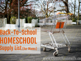 Back to HOMESCHOOL supply list