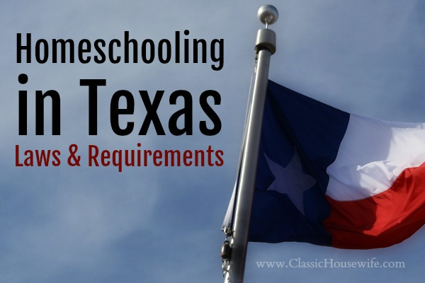 Homeschooling In Texas, Laws and Requirements
