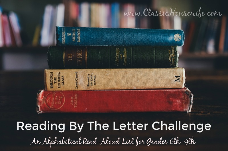 Our Alphabetical Middle Grades Read-Aloud Challenge
