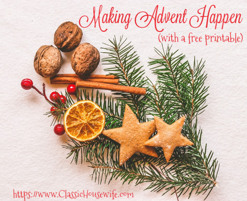 Making Advent Happen (With Free Printable)